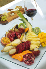 Tropical Fruit platter with Australian cheeses